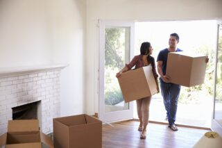 image of young couple buying property